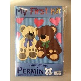 Permin Permin Spansteek - Beertjes - 10x10cm