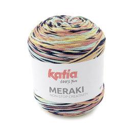 Katia MERAKI 505 Hemelsblauw-Bleekrood-Geel-Zwart 40430