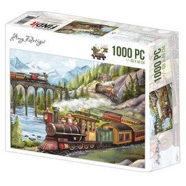 Amy Design Puzzel 1000 pc - Amy Design - Trains +/- 68x49cm
