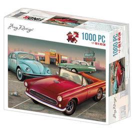 Amy Design Puzzel 1000 pc - Amy Design - Vintage Cars +/- 68x49cm