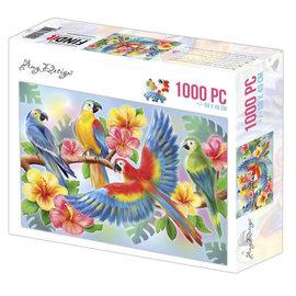 Amy Design Puzzel 1000 pc - Amy Design - Papegaaien +/-68x49cm