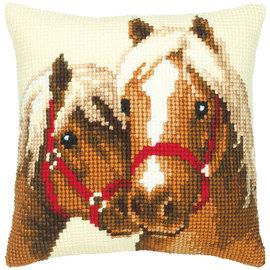 Vervaco Kruissteekkussen kit Paardenvriendschap