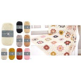 Durable ** Haakpakket Deken - Coaster Square Deken Cream