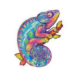 Houten Puzzel Chameleon (219 stukjes/19x22cm) **