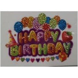 Diamond Painting - Crystal Sticker Happy Birthday