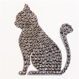 Diamond painting - Crystal Stickers Cat Silver