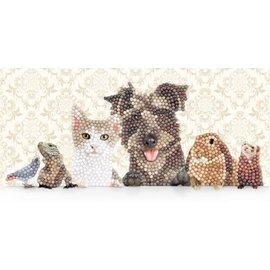 Diamond Painting - Crystal Art Card® Animal Family