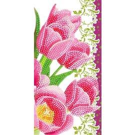Diamond Painting - Crystal Art Card® Pink Tullips