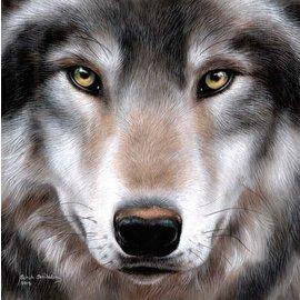 Diamond Painting - Crystal Art Kit, Wolf (full) 30 x 30 cm