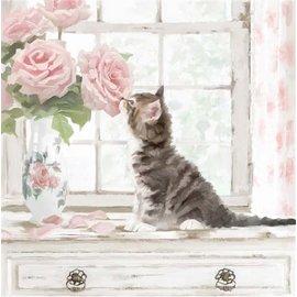 Diamond Painting - Crystal Art Kit Cat (partial) 30 x 30 cm