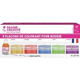 Graine Creative Set van 5 vloeibare kleurstof voor Kaarsen