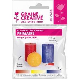 Basiskleuren voor kaarsen - Rood, Geel, Blauw