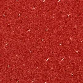 Rubbervel - Foam 20cm x 29cm - Rood paillette - PER VEL