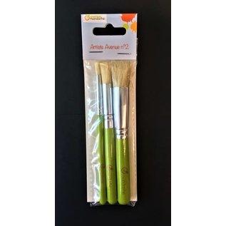 Avenue Mandarine Set 3 penselen voor sjablonen