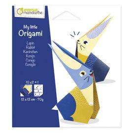 Avenue Mandarine My Little Origami, Konijn, 12x12cm