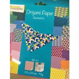 Avenue Mandarine Origami papier GEOMETRIC, 20x20cm