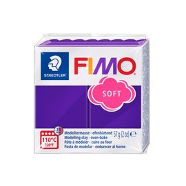 Fimo Fimo soft blok 57g. Pruim