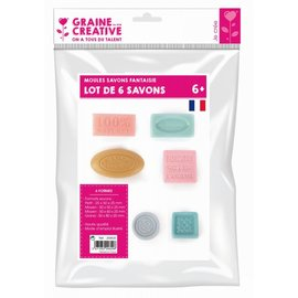 Gietvorm mini voor zeep mix 6st.