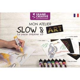 koffer SLOW & ART : 8 Dot tubes + 10 kaarten