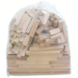 Zak assortiment 200 knutselhoutjes