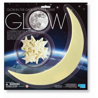 1 Glow-in-the-dark maan & 12 sterren