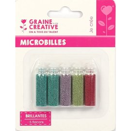 ASSORTIMENT 5 FLACONS MICROBILLES BRILLANTES N°1