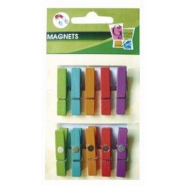 Wasknijper hout+magneet assortiment