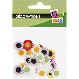 SET 35 ASSORTED PAPER FLOWERS