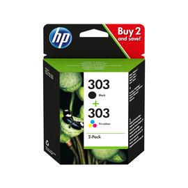 HP Black 303 + tri-colour 303