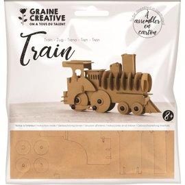 Maquette trein karton  190x110x40 mm