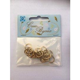 ChainMaille ringen 1,5 x 12 mm 25 st goudkleur