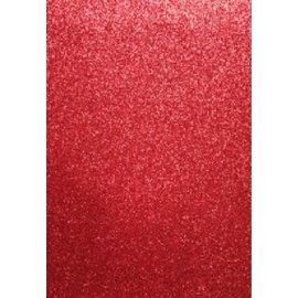 EVA Foam GLITTER 22x30 cm rood - PER VEL