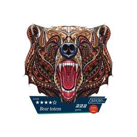 Houten Puzzel Bear totem 32x32