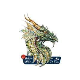 Houten Puzzel Chinese dragon 48x30cm