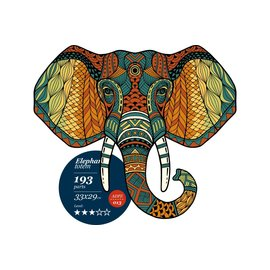 Houten Puzzel Elephant totem 33x29cm