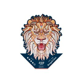 Houten Puzzel Bengal lion 34x30cm