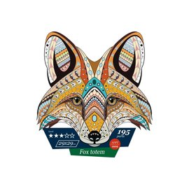 Houten Puzzel Fox totem 29x29cm