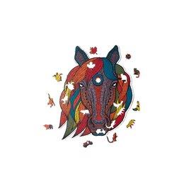 Houten Puzzel Horse totem 53x22cm