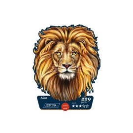 Houten Puzzel Lion 33x29cm