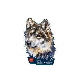 Houten Puzzel Grey wolf 35x30cm