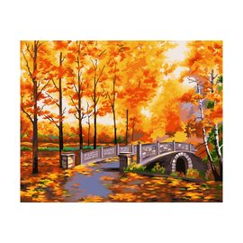 Painting by numbers - Autumn Park 40x50cm