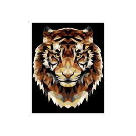 Painting by numbers - Tiger (polygonal style) 40x50cm