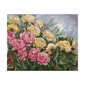 Paining by numbers - Roses 40x50cm