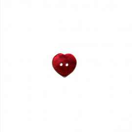 Knoop hart  20mm Nacre - parelmoer (rood)