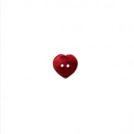 Knoop hart  15mm Nacre - parelmoer (rood)