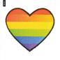 """Applicatie om op te strijken """"Regenboog hart"""""""