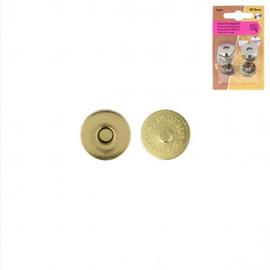 Magneetsluiting 19mm goud