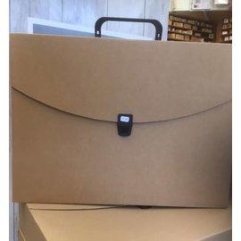 Kartonnen documententas ca. 7,5x29x39cm