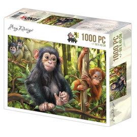 Puzzel 1000 pc - Amy Design - Monkeys