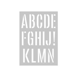 stencil A3 alphabet giant 2 shades